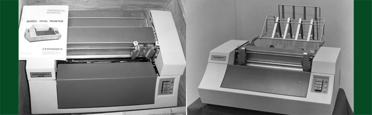 Изображение первого матричного принтера